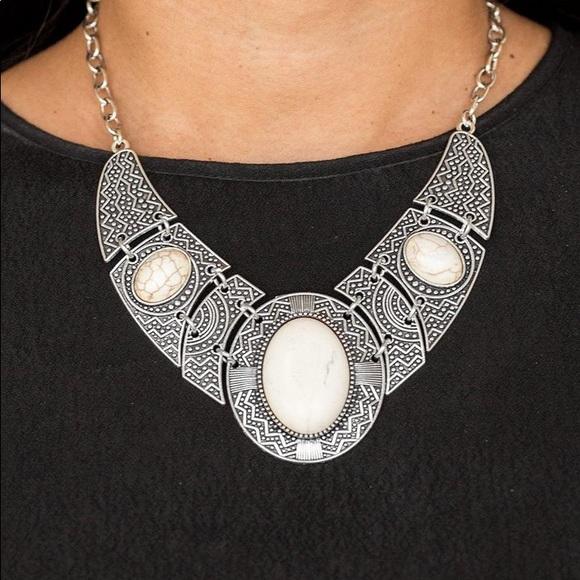 Paparazzi Jewelry - New! Paparazzi Leave Your Landmark White Necklace